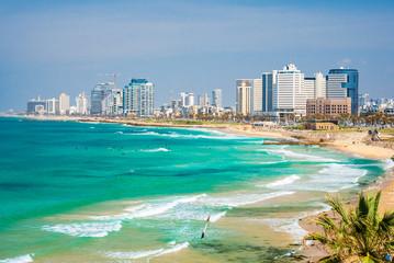Wall Mural - Panoramic view of  Tel Aviv, Israel