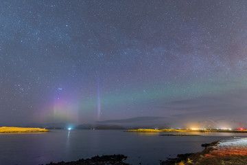 Northen light from Iceland