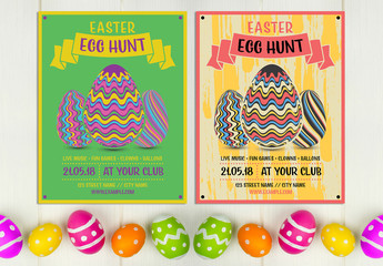 Easter Egg Hunt Invitation Layout