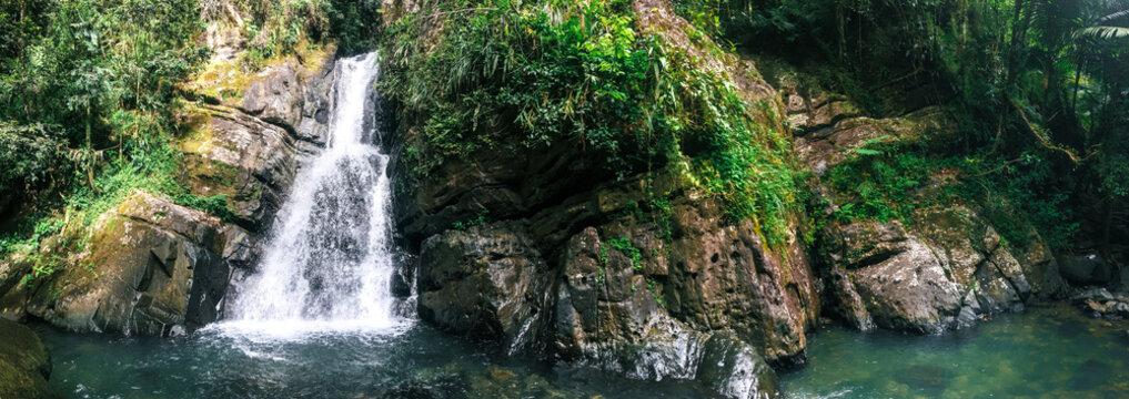 La Mina Falls in El Yunque National Forest in Puerto Rico