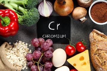 Food rich in chromium