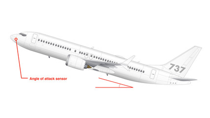 Schematic of Boeing 737 Max aircraft