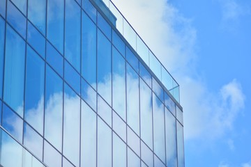 Foto auf Leinwand An der Decke Office building close up