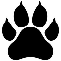 Wildcat paw print vector illustration