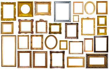 collectrion of calssical art frames
