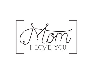 mom i love you label isolated icon