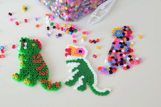 Making from perler beads, montessori game for children