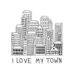 Obraz I love my town - fototapety do salonu