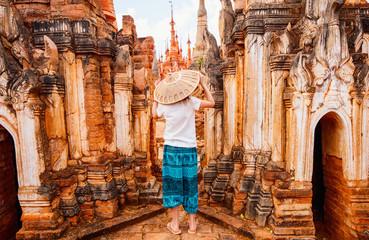 Girl visiting Indein Myanmar