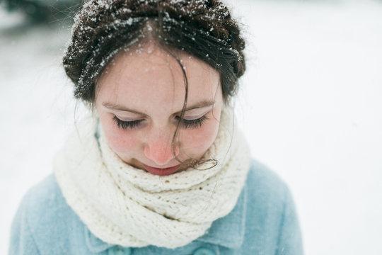Snowy girl