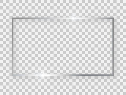 Silver shiny 16x9 rectangular frame
