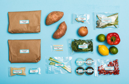 Pre-Packaged Ingredients For Two Meal Kits