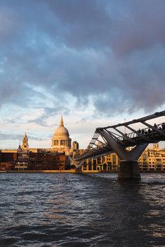 London cityscape at sunset