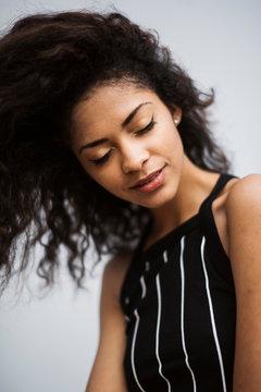 Portrait of Young Mix Race Woman