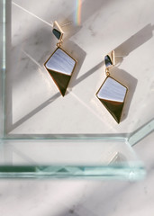 Jewelry on a stone set