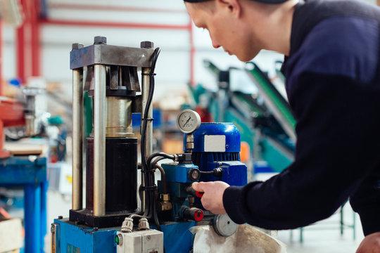 Man reparing a industrial pump