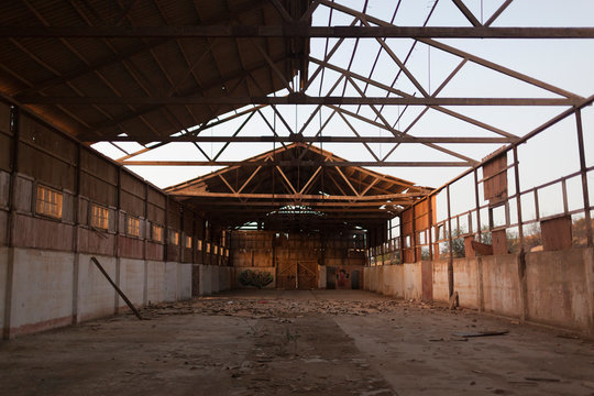 An abandoned warehouse in Peru