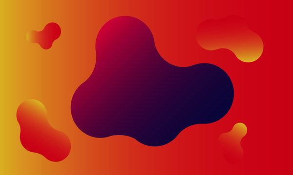 Abstract liquid shape. Fluid design. Isolated gradient waves with geometric lines. Vector illustration.