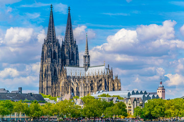 Detail of the cathedral in Cologne, Germany Fototapete