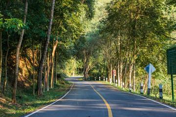 Asphalt road and landscape countryside