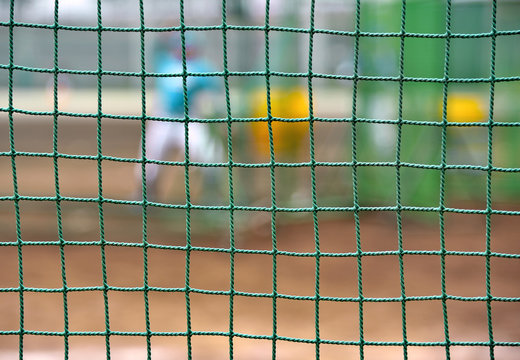 Baseball field protection net: batting-practice pitcher to throw the ball to the batter