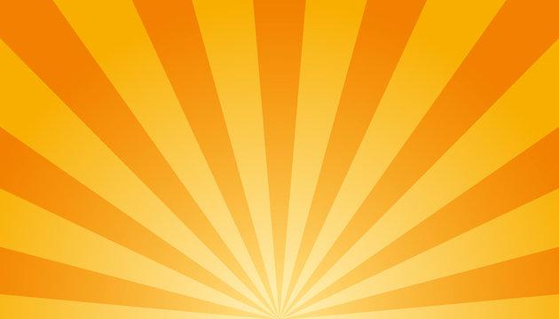 Orange And White Sunburst Background - Vector Illustration