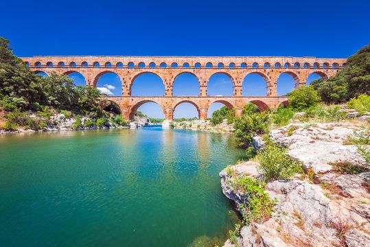 Pont du Gard, Provence in France