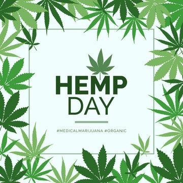 Hemp day and medical marijuana advertisement