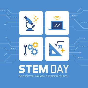 STEM day promotional design
