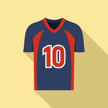 American football jersey icon. Flat illustration of american football jersey vector icon for web design