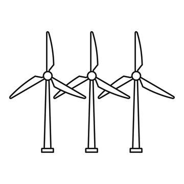 Development wind turbine icon. Outline development wind turbine vector icon for web design isolated on white background