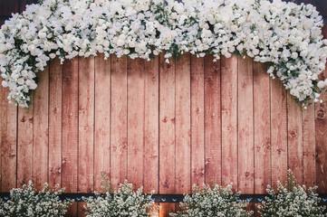 Beautiful backdrop wood flowers vintage wedding background wallpaper.