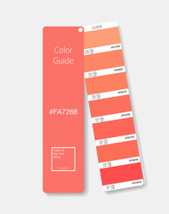 Color of the year 2019 - Living Coral. Living Coral swatch. Orange Mockup. Vector illustration