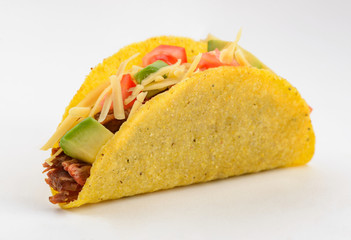 Taco on white background Wall mural