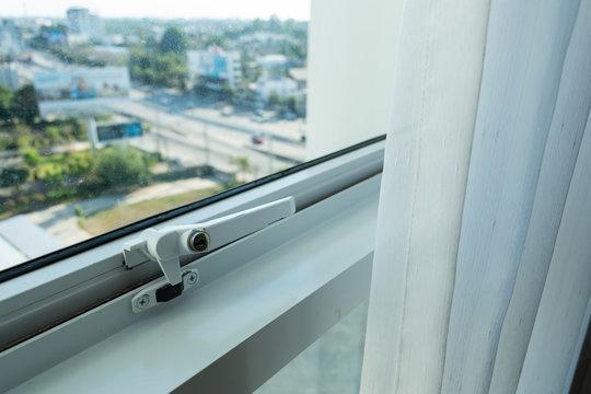 glass window in condominium