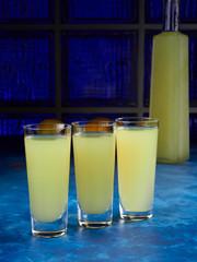 Traditional Italian liqueur limoncello or limoncino