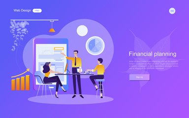 Business concept for marketing for banner and website. Analysis and brainstorm teamwork, creative innovation, consulting, financial report and project management strategy. Vector illustration.