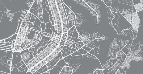 Urban vector city map of Brasilia, Brazil Fototapete