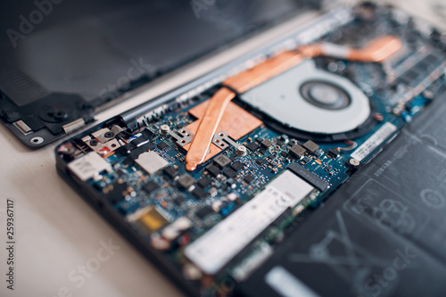 Disassembly and repair laptop  Service, replacement cooling