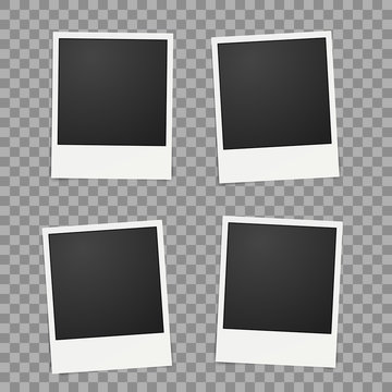 Template for photo, Polaroid frames vector for design