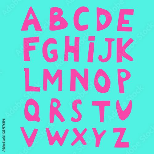 Paper Cut Alphabet  Capital letters   Good for ecology, environment
