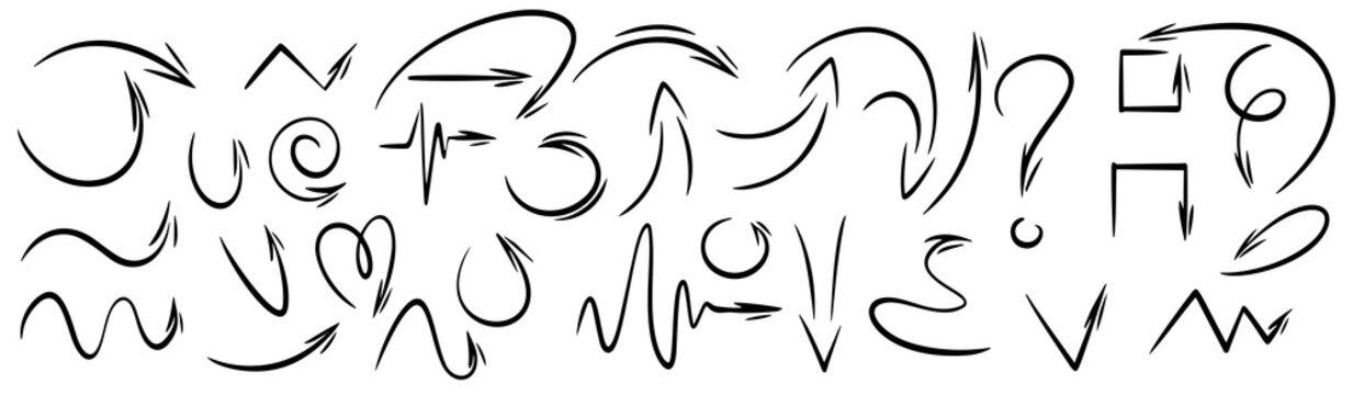 vector hand drawn doodle arrows