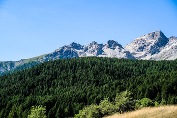 Alpine Mountain Range Landscape