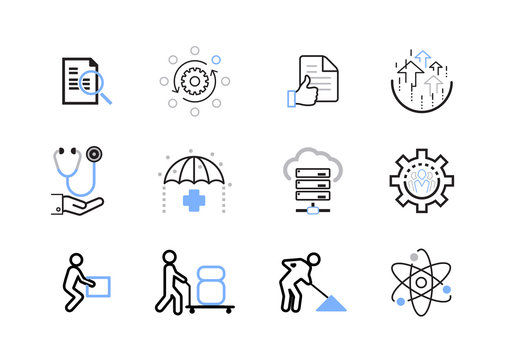 Icon Set Environment Safety Compliance Business