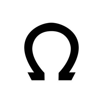Horseshoe icon black design