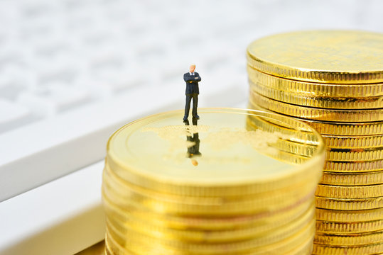 Business image Businessman and funds
