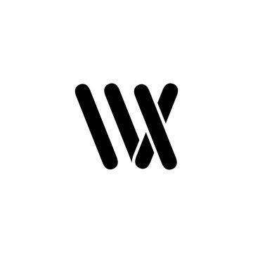 letter wx logo vector