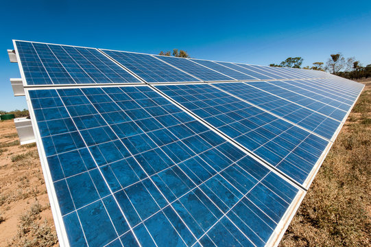 Solar panels on an outback property