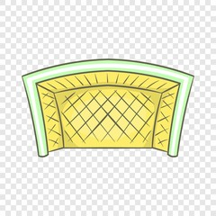 Football goal icon in cartoon style isolated on background for any web design