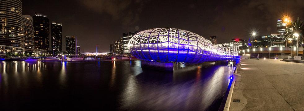 Webb Bridge at night